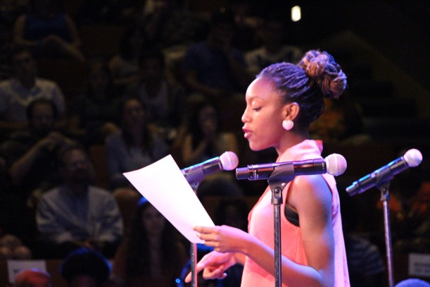 CiCi performing poetry