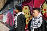 E and Sekou at wall